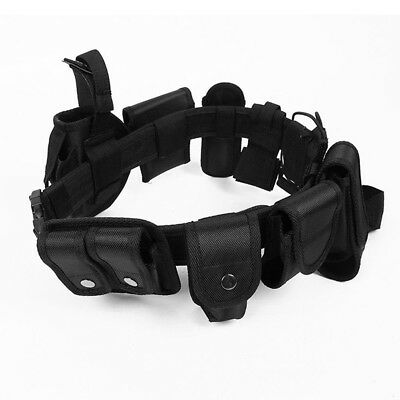 Enforcement Tactical Nylon Belt Equipment Adjustable Black For Police Officer