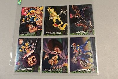 1994 Fleer Ultra X-Men Greatest -schlachten 6 Karten Chase Subset Ungebraucht