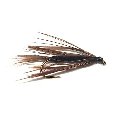 6 x Black Carey Special Fly Fishing Wet Flies For Trout and Salmon