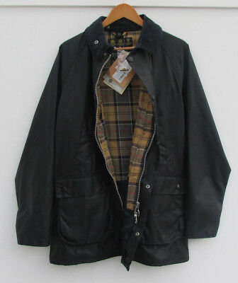 bnwt BARBOUR waxed BEDALE SL slim fit NAVY rrp £249 xxl but 24 inch pit to pit