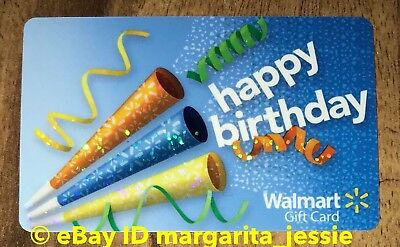Walmart Us Happy Birthday Party Horns Gift Card No Value New