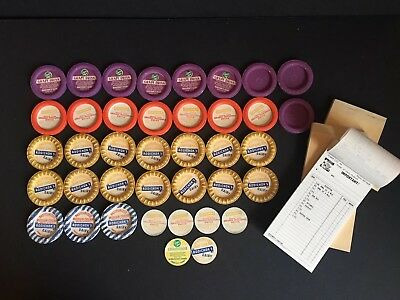 Vintage Dairy Items ~ Bottle Caps and Receipt Books ~ RODICHOK'S DAIRY