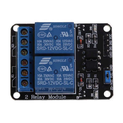 2 Channel Way 12V Relay Interface Board Module for Arduino Pi PIC ARM PLC AVR
