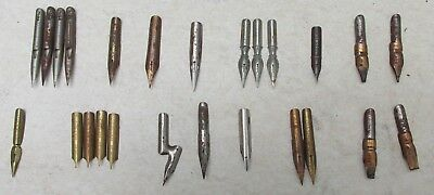 A Collection of Antique / Vintage Pen Nibs