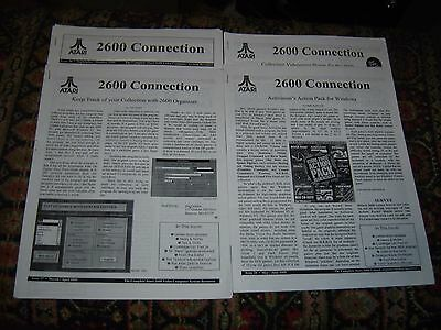 2600 Connection - ATARI VCS print newsletters 1995-1996 13 issues videogame