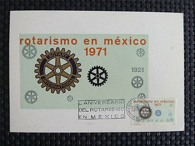 MEXICO MK 1972 MEXIKO ROTARY MAXIMUMKARTE CARTE MAXIMUM CARD MC CM c4979