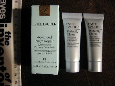 ESTEE LAUDER ADVANCED NIGHT REPAIR 7ml + 2 x PERFECTLY CLEAN 7ml