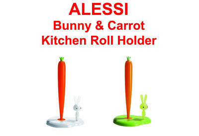 ALESSI Bunny and Carrot Kitchen Roll Holder FREE DELIVERY