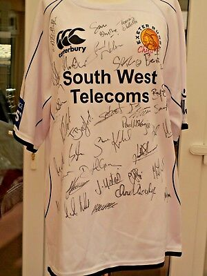 Exeter Chiefs signed Rugby shirt.