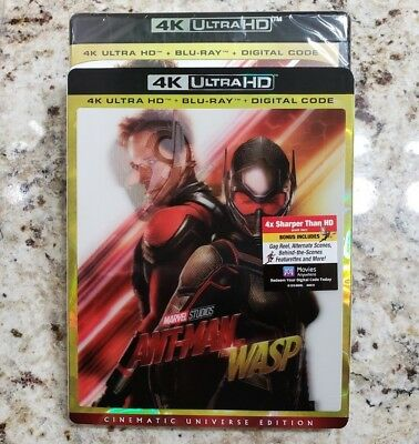 ANT-MAN AND THE WASP (4K Ultra HD Blu-ray Disc, No Digital) Like New