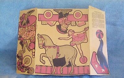 Cereal Box empty Post Toasties circus cutouts.1940's or 50's RARE