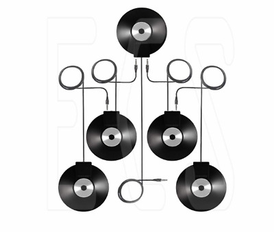 (5) WordForum 3.5 mm Stereo Conference Microphones Daisy Chained with 360°