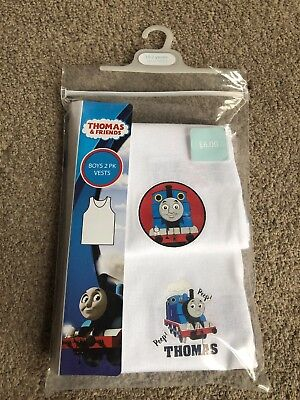 Mothercare George Thomas The Tank Engine Train Vests 2 Pack 18-24 Months