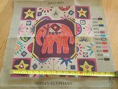 Jolly Red Tapestry - Indian Elephant (Without Yarn)