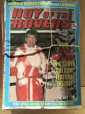 Roy Of The Rovers - set of 47 vintage comics from January - December 1980