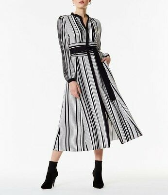 5b62c7d111c KAREN MILLEN GRAPHIC Stripe Midi Dress Was199 - $159.09 | PicClick