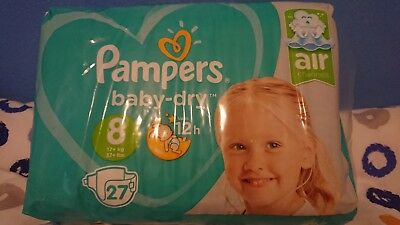 Pampers Baby Dry Size 8 Nappies/Diaper Sample Pack of 5 Worldwide Shipping