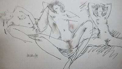 Seated Nude By Peter Collins - Modern British Artist