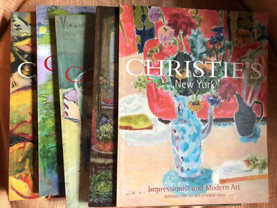 Lot Of Five Christie's Auction Catalogs For Impressionist And Modern Art Sales