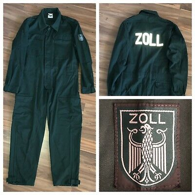 original Einsatzoverall Zoll Gr. 48 = S / M German Customs Uniform Overall 海关 税関