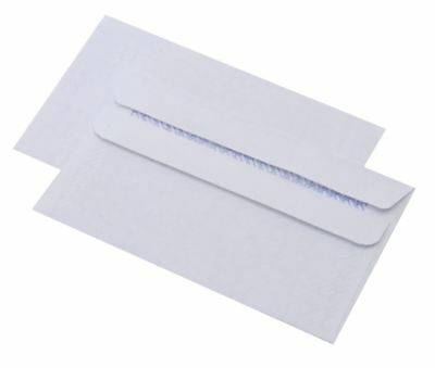 Everyday Quality DL Plain Self Seal White Mailing Envelopes 90GSM 110 x 220mm