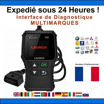 Valise Diagnostic LAUNCH Creader CR319 OBD2 Voiture Français 2019 PRO X431 CDP+