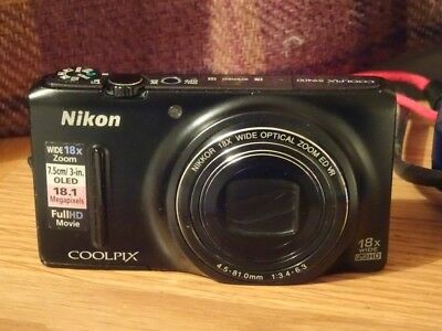 Nikon Coolpix S9400 with 18x optical zoom lens.