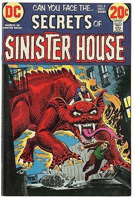 Secrets of Sinister House #8 VF/NM 9.0 white pages  DC  1972  No Reserve