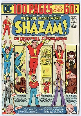 Shazam! #12 VF/NM 9.0 ow/white pages  Captain Marvel  100 Page Giant  DC  1974