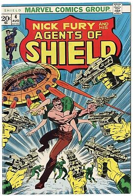 SHIELD #4 NM- 9.2 white pages  Marvel  1973  No Reserve