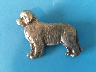 Artist Signed Pewter ~ NEWFOUNDLAND Pin ~ Beautiful Detail ~ Mint condition