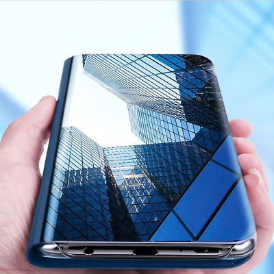 2018 Clear View Mirror Case Flip Leather Cover for Samsung Galaxy Note 9 S9 Plus