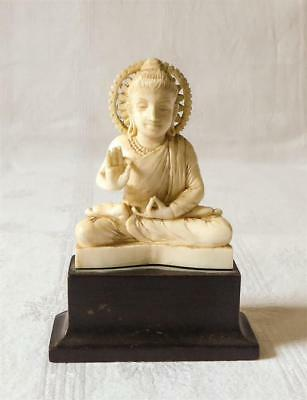 Finely Carved Antique Late 19Th Early 20Th Century Indian Buddha