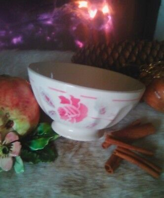 BOL ancien Digoin Sarreguemines rose collection campagne old Bowl
