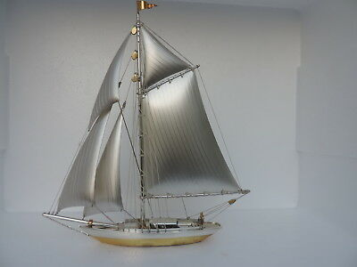 Masterly Hand Crafted Solid Sterling Silver 970 Ship Not Scrap 148 Grams 5.2 Oz