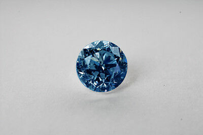 Lose natürliche(clarity enhanced) Diamant Rund 0.86 Ct SI2/Blau