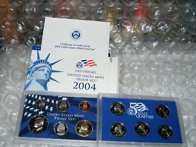 2004 United States Uncirculated Mint Proof Set W/COA in Original Packaging