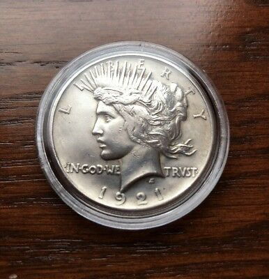 1921 Silver Peace Dollar. High Luster Gem Condition  !!!