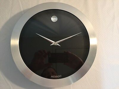 Movado Dealer Wall Clock Museum Watch Dial Vintage St. Working On Time! 12''
