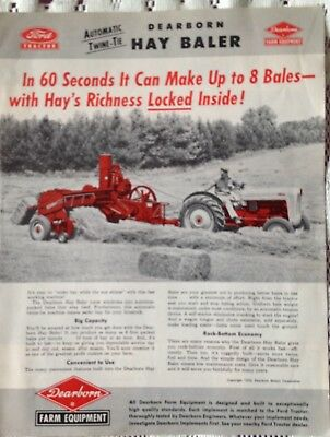 Vintage Ford Tractor Dearborn Hay Baler Phamplet (1952)
