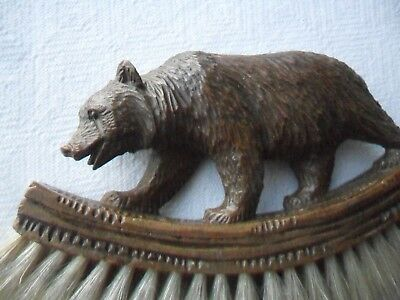 Antique/Vintage Black Forest Bear Brush