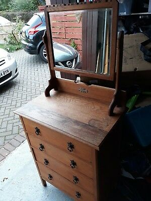 Victorian Pine Dresser with swivel mirror and drawers