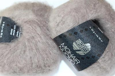 Wolle Kreativ! Lana Grossa - Mohair Nuovo - Fb. 10 taupe 10 x 25 g