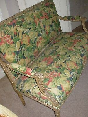Louis XVI Style, early 19th Century Settee - Original Patina&Upholstery