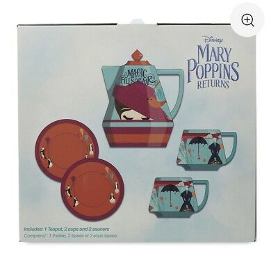 Disney Mary Poppins Tea Set From Live Action Movie Film Mary Poppins Returns