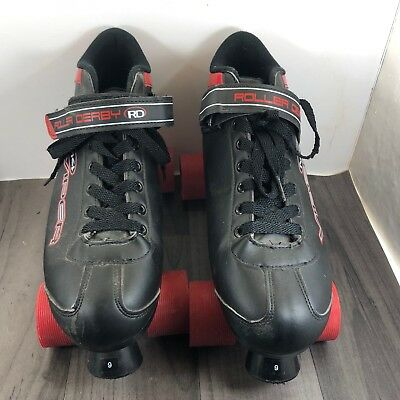 Roller Derby Viper M4 Black Red Roller Skates Size Us 9 Or Uk 8 Used Once