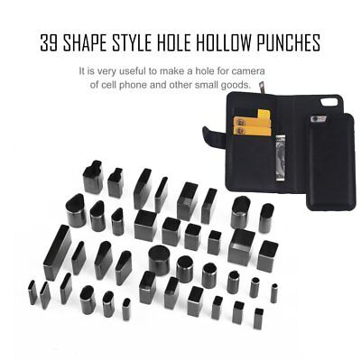 Leather Cutting Tool 28 Pcs Shaped Style Hole Hollow Punch Cutter Set Leather Craft Diy Tool For Handmade Generic Health & Beauty