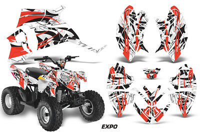 ATV Decal Graphic Kit Quad Wrap For Polaris Outlaw 90 110 All Years EXPO RED