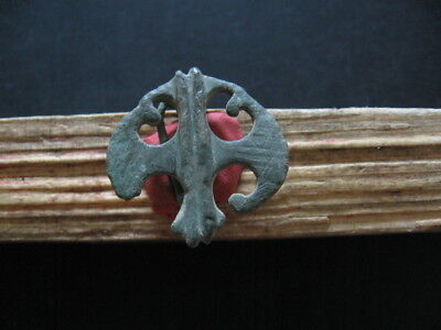 Double Battle  Axe Fibula Ancient Celtic Openwork Bronze Brooch 200-50 B.c.