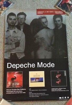 """Depeche Mode Deluxe Expanded Remasters US Promo Poster RARE 19"""" x 25"""""""